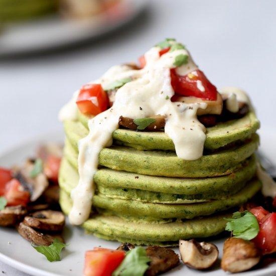 Falafel Chickpea Flour Pancakes!