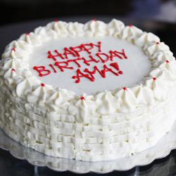 yellow cake w whipped cream icing foodgawker