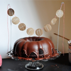 Dark Chocolate Birthday Bundt Cake Foodgawker - Bundt birthday cake
