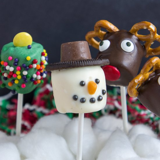 christmas marshmallow pops - Christmas Marshmallows