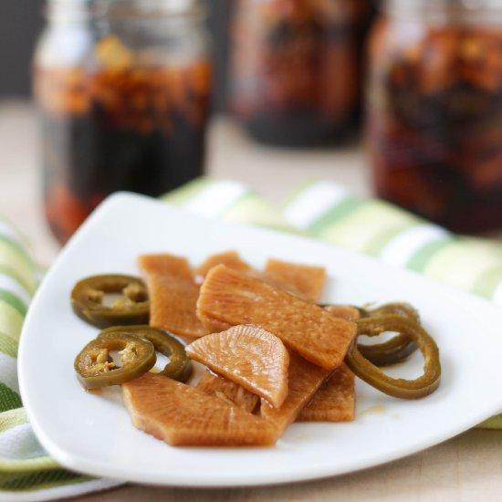 Korean Pickled Radishes Jalapenos Foodgawker