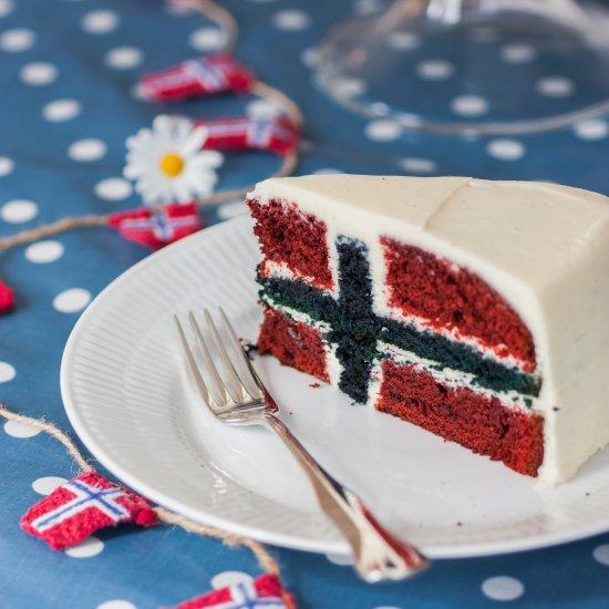 norwegian flag cake | foodgawker