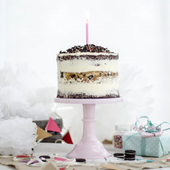 Excellent Naked Cookies And Cream Cake Foodgawker Funny Birthday Cards Online Hendilapandamsfinfo