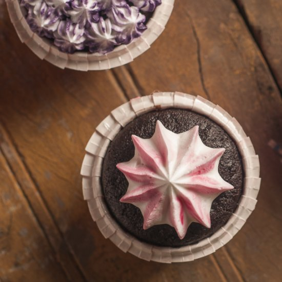 Star Studded Chocolate Cupcakes