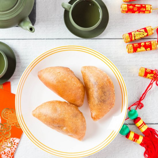 fried red bean puffs - Chinese New Year Desserts
