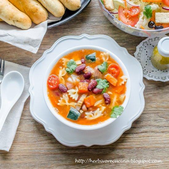 vegan minestrone soup - Olive Garden Minestrone