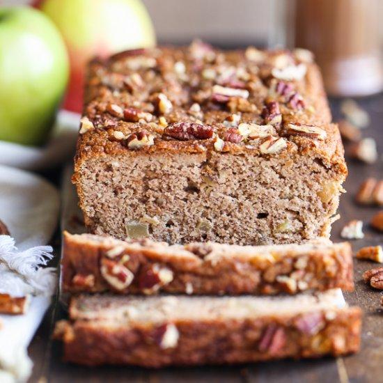 Apple Cinnamon Bread (Paleo, Gluten-Free + Refined Sugar Free)