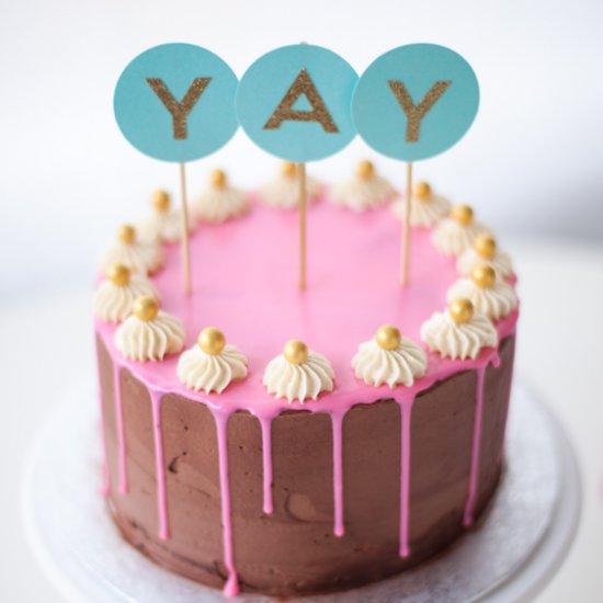 Birthday Cake With Fudge Frosting