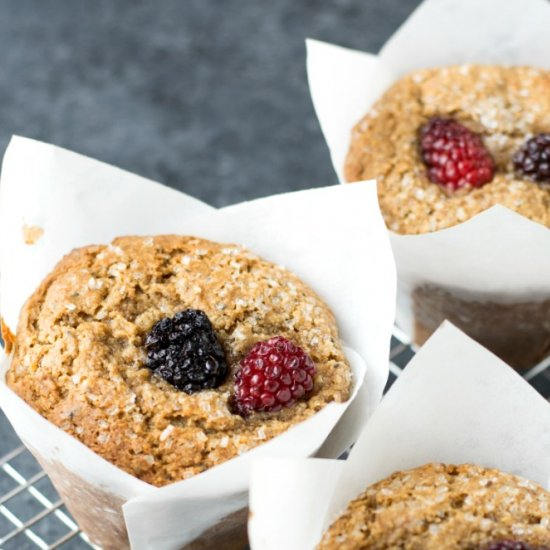 Blackberry Breakfast Muffins