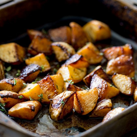Roasted Swede with Maple and Thyme