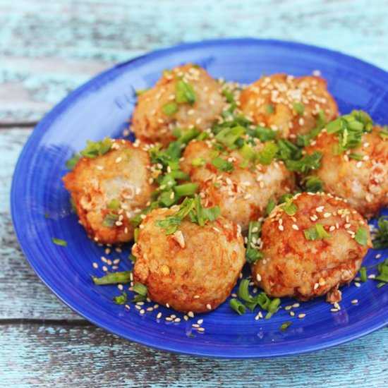 Sriracha Chicken Meatballs