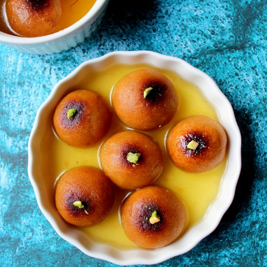 Hot and Sweet Baked Gulab Jamun