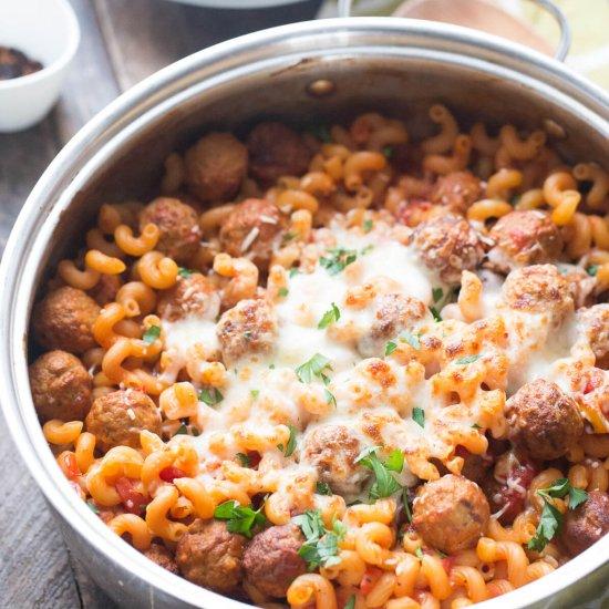 Skillet Meatball Lasagna