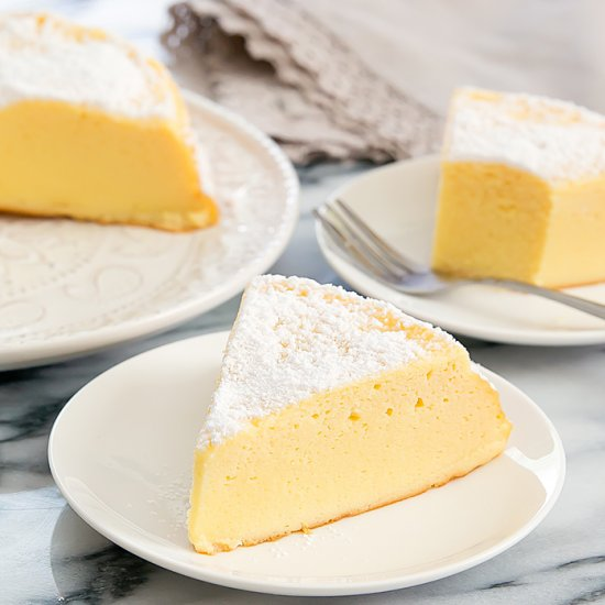3 Ingredient Japanese Cheesecake
