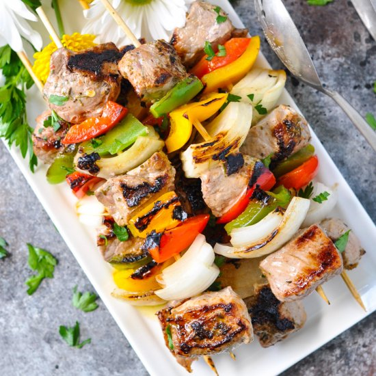 Garlic & Herb Pork Kabobs