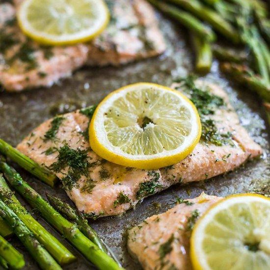 Sheet Pan Lemon Dill Salmon