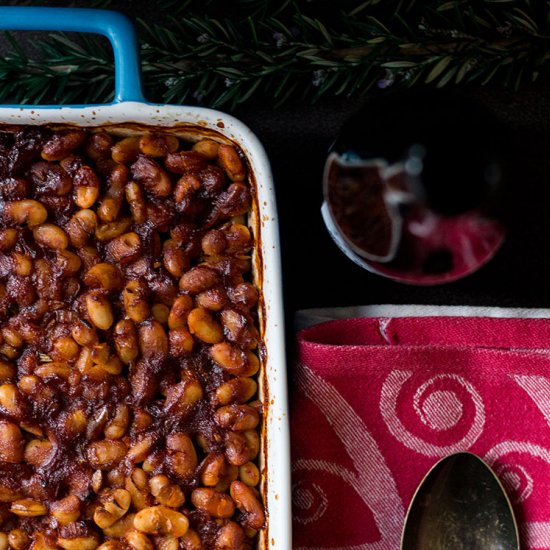 Stout Baked Beans with Rosemary
