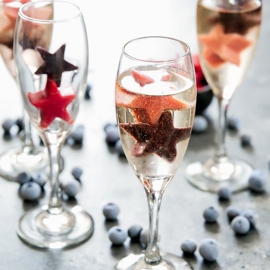 July 4th champagne cocktails
