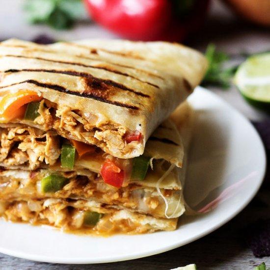 Grilled Cheesy Chicken Quesadillas