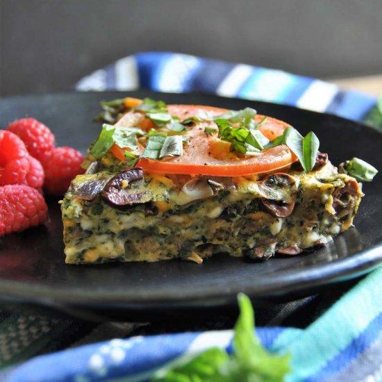 Vegan Veggie & Herb Frittata