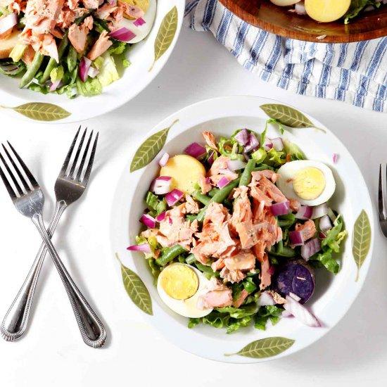 Salmon Nicoise Salad For Bastille Day And Summertime Dinner