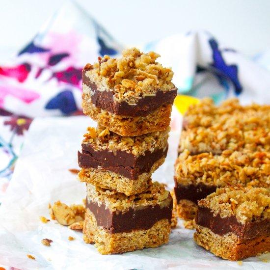 Chocolate Peanut Butter Fudge Bars