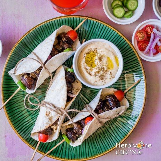 Za'atar Spiced Greek Mushrooms Wrap