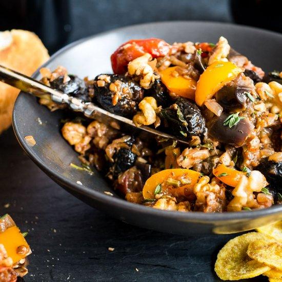 Eggplant Caponata Recipe (Walnuts)