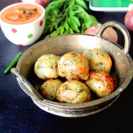 Rava Paniyaram/Fritters