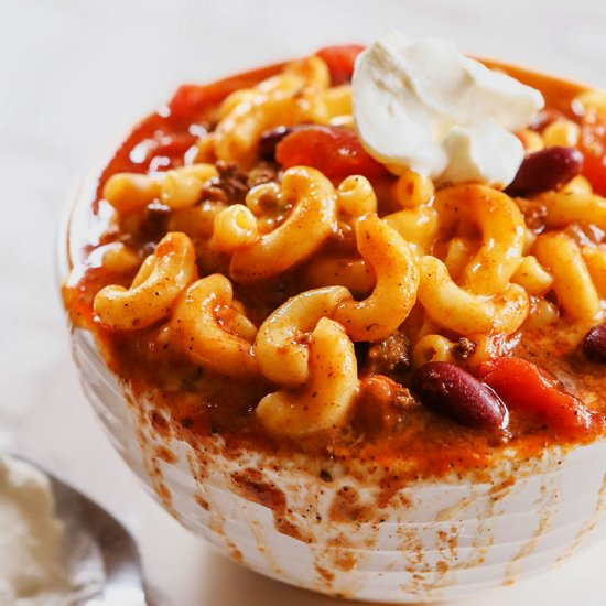 Comfort food dinner recipe gallery foodgawker chili mac and cheese forumfinder Images
