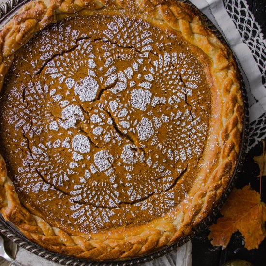 Brown Butter Chai Pumpkin Pie