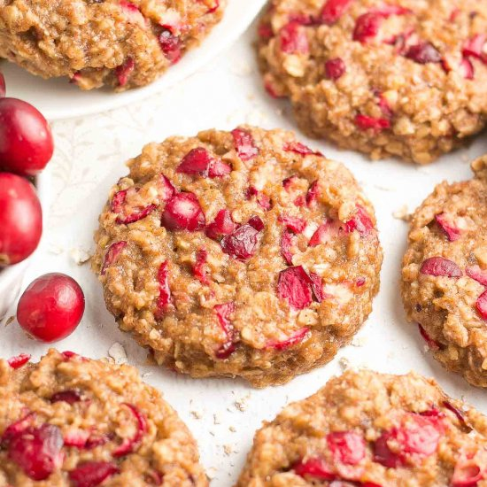 Cranberry Banana Oatmeal Cookies