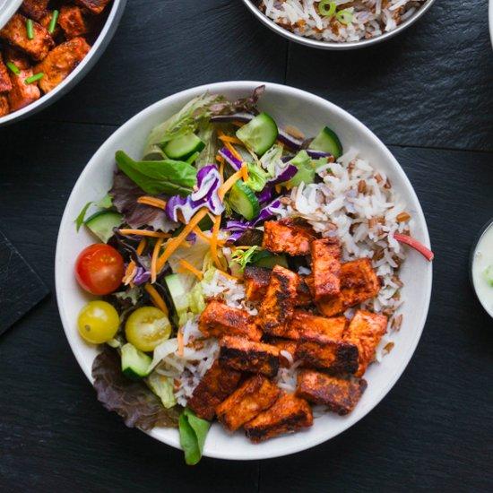 Vegan dinner recipes gallery foodgawker vegan tandoori tofu w rice salad forumfinder Images