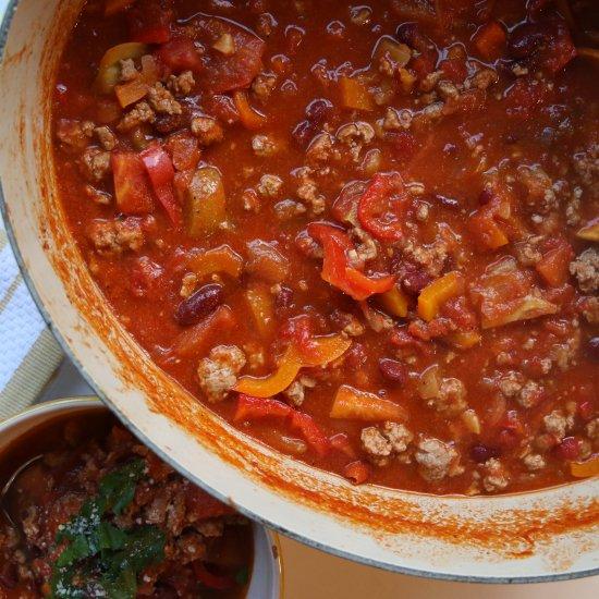 Comfort food dinner recipe gallery foodgawker heirloom tomato turkey chili forumfinder Images