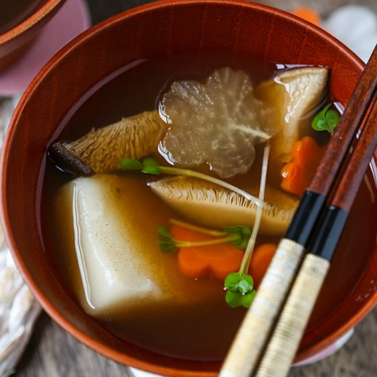 Healthy asian dinner recipes gallery foodgawker email ozoni japanese new year mochi soup forumfinder Gallery