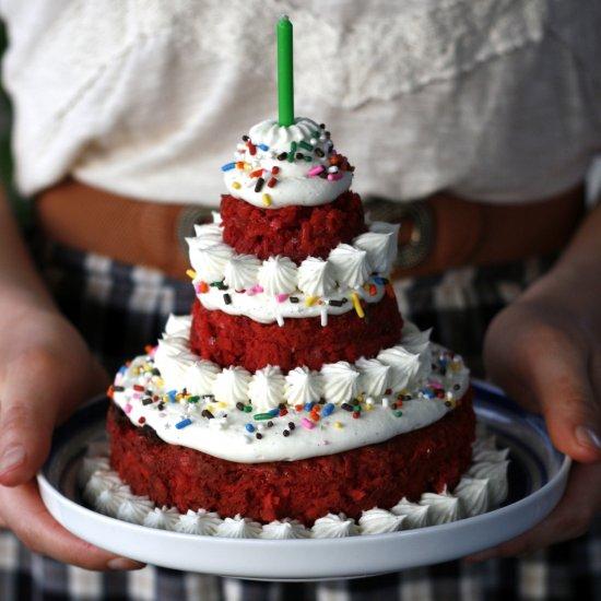Mini Tiered Macaroon Cake