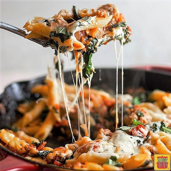 Quick dinner gallery foodgawker sausage and kale pasta dinner for 2 forumfinder Images