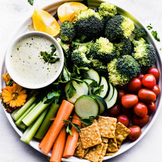 Vegan gallery foodgawker vegan ranch dressing snack platter forumfinder Gallery