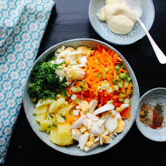 Potato and egg salad with spices foodgawker potato and egg salad with spices forumfinder Images