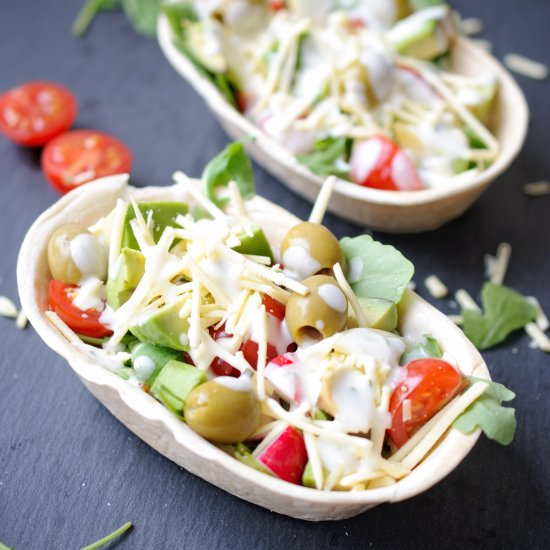 Foodgawker feed your eyes tortilla salad baskets with garlic forumfinder Image collections