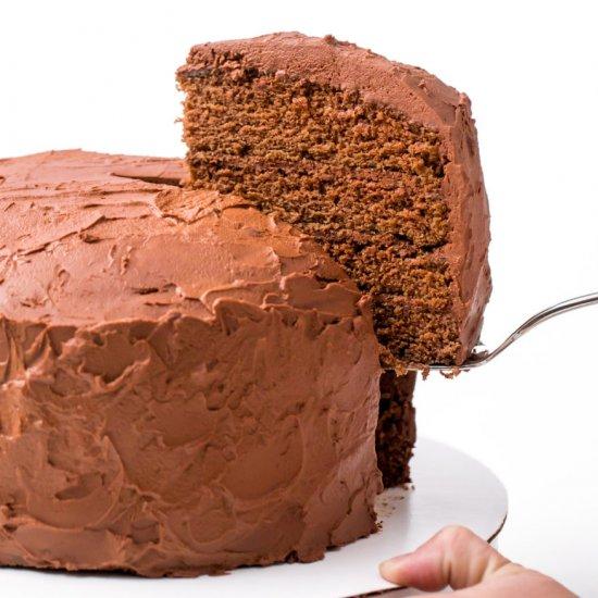 Pleasant Big Chocolate Birthday Cake Foodgawker Personalised Birthday Cards Veneteletsinfo